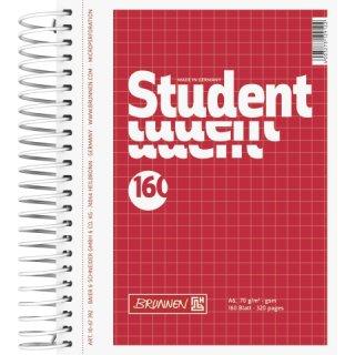 Collegeblock Student A6 kariert 160 Blatt