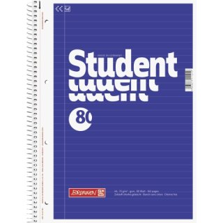 Collegeblock Student A4, liniert mit linkem Rand 80 Blatt