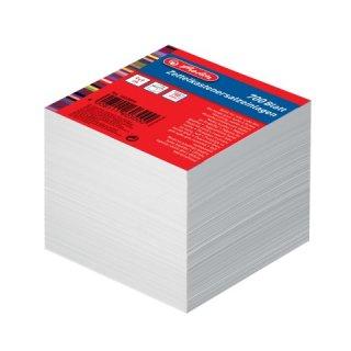 herlitz Zettelklotzeinlagen, Ersatzeinlagen weiß 90x90 ca.700 Blatt 80g/m²
