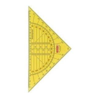 Geometrie-Dreieck 16cm  bruchsicher transparent-gelb