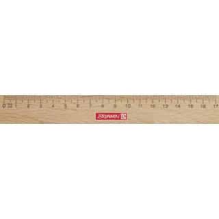 Lineal 17cm Holz (Buche), doppelseitige Tuschekante, sehr gut lesbar