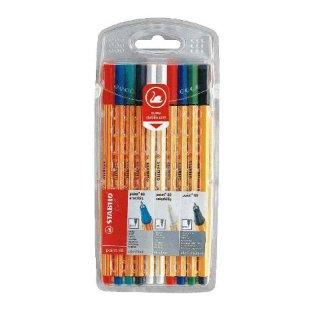 Stabilo point 88 Tintenschreiber, Fineliner 88/10 Etui mit 10 Stifte