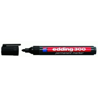 Industrie Permanentmarker 300 Rundspitze schwarz, 1,5-3mm