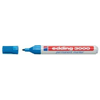 Edding 3000 Permanentmarker (10) hellblau