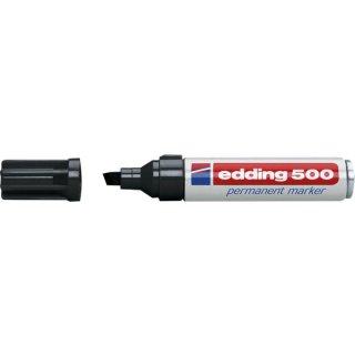 Marker 500 Keil 2-7mm schwarz nachfüllbar mit edding T 25