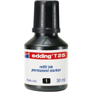 Nachfülltusche T25 30ml schwarz