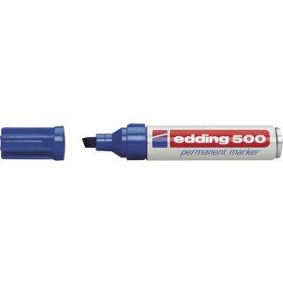 Marker 500 Keil 2-7mm blau nachfüllbar mit edding T 25