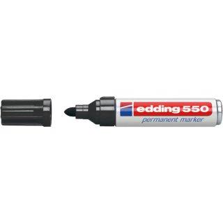Permanentmarker Rundspitze 3-4mm schwarz nachfüllbar mit edding T25