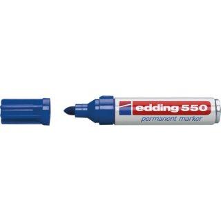 Permanentmarker Rundspitze 3-4mm blau nachfüllbar mit edding T25