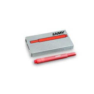 Lamy Tintenpatronen T10 rot  VE=5 Stück