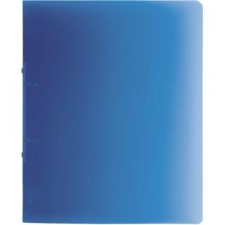 Brunnen Ringbuch Fact!A4 1,6cm Rückenbreite, PP, 2-Ring blau transparent (Fb.30)