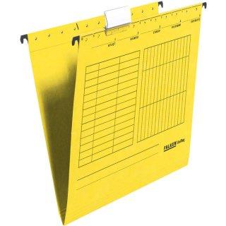 Hängemappe UniReg, gelb 230g/m²-Kraftkarton, seitlich offen