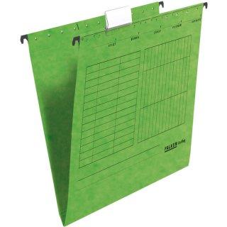 Hängemappe UniReg, grün 230g/m²-Kraftkarton, seitlich offen