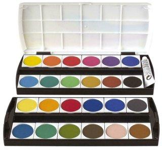 Geha  Deckfarbkasten mit 24  Farben und 1 Deckweiß