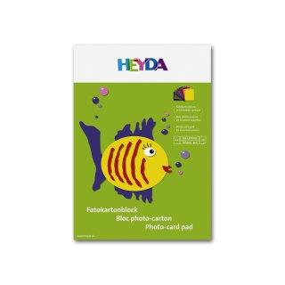 Heyda Fotokarton A4 300g/m², Block mit 10 Blatt in 10 Farben sortiert