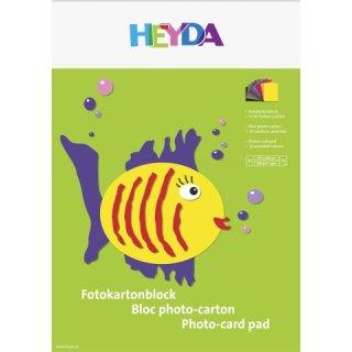 Heyda Fotokarton A3 300g/m², Block mit 10 Blatt in 10 Farben sortiert