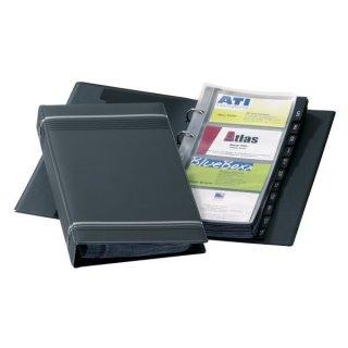 Telindex-Visitenkartenringbuch für 200 Visitenkarten 57x90mm
