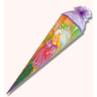 Roth Schultüte  Rose Princess mit Glitter 85cm 6eckig mit Tüllverschluss