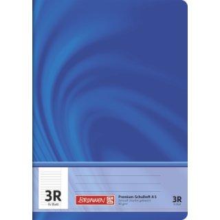 """Brunnen Premium-Schulheft A5 """"Vivendi"""" Lin.  3R 16 Blatt  90g/m²"""