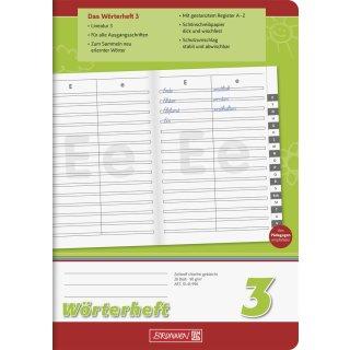 Schulheft Wörterheft, A 5, für Klasse 3, 3, 28 Blatt, 1/4-farbig bedruckt