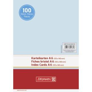 Brunnen Karteikarten A6 unliniert, blau  VE= 100 Stück