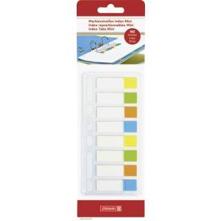 Brunnen transparente Markierstreifen Index Mini, 160 Streifen in 4 Farben