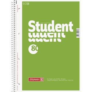 Brunnen Collegeblock A4, unliniert, gelocht und perforiert, 80 Blatt