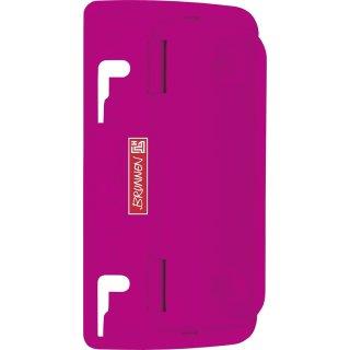 Taschenlocher pink mit Niederhalter und Linealprägung