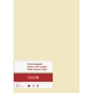 hochwertiges Universalpapier/ Multifunktionspapier, A4, 160g/m² , beidseitig bedruckbar, chamois, VE = 25 Blatt