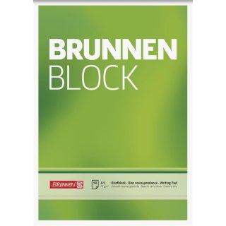 Briefblock A5 70g/m² blanko / unliniert, ohne Lochung, ohne Rand, 50 Blatt