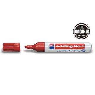 Marker No. 1 Keil 1-5mm1 rot nachfüllbar mit edding T 25