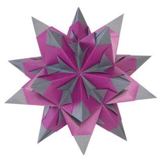 Bascetta-Stern Bastelset,Duo 15x15cm 30 Blatt, lila/anthrazit 75g/m²