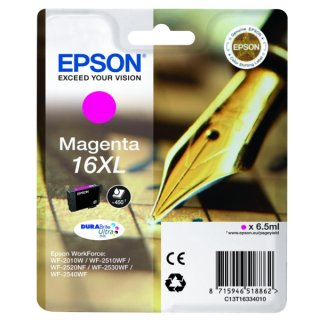 Epson 16XL Tintenpatrone magenta XL, 450 Seiten, Inhalt 6,5 ml