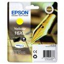 Epson 16XL Tintenpatrone gelb XL, 450 Seiten, Inhalt 6,5 ml