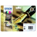 Epson 16XL Tintenpatrone MultiPack Bk,C,M,Y XL, Inhalt 12,9ml + 3x 6,5ml